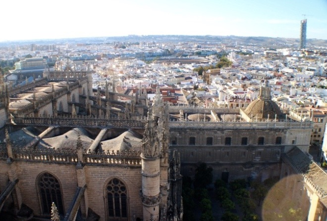 View from Giralda Tower. It was quite a climb up the tower but, the view was worth it.