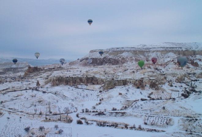 At Cappadocia- hot air balloon: my favourite city in Turkey!