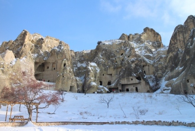 These are churches built in rocks. Famously known as fairy chimneys.